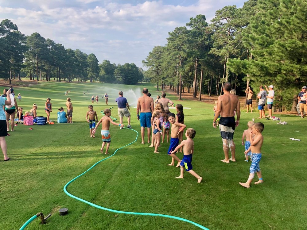 Slip N Slide on the golf course!