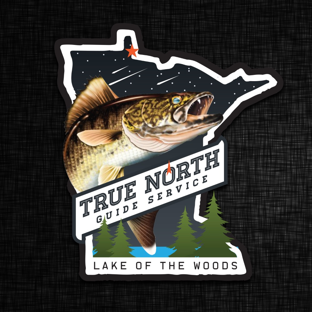 True North Guide Service Logo  - Walleye - Lake of the Woods - Minnesota - Fishing