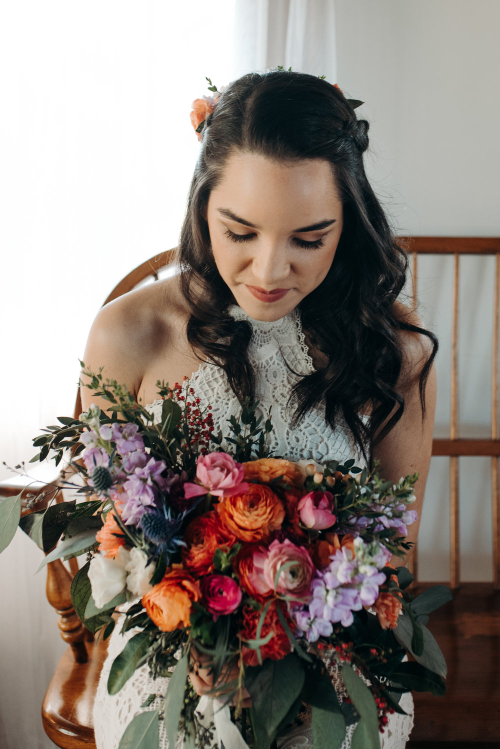 Colorful Winter Wedding at The Acre