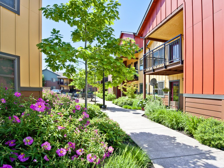 Prairie View, a 64-unit apartment complex in West Eugene, is one of eight properties in Cornerstone Community Housing's affordable housing portfolio.