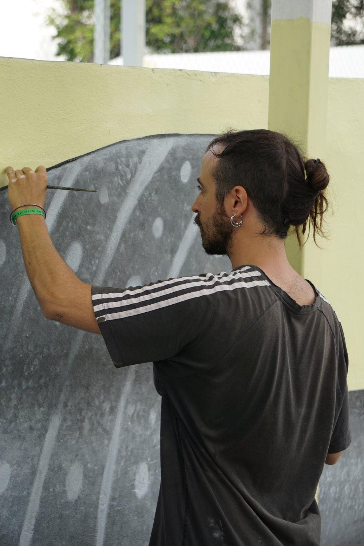 GUILLEM FONT - Mural at Tulum´s skatepark