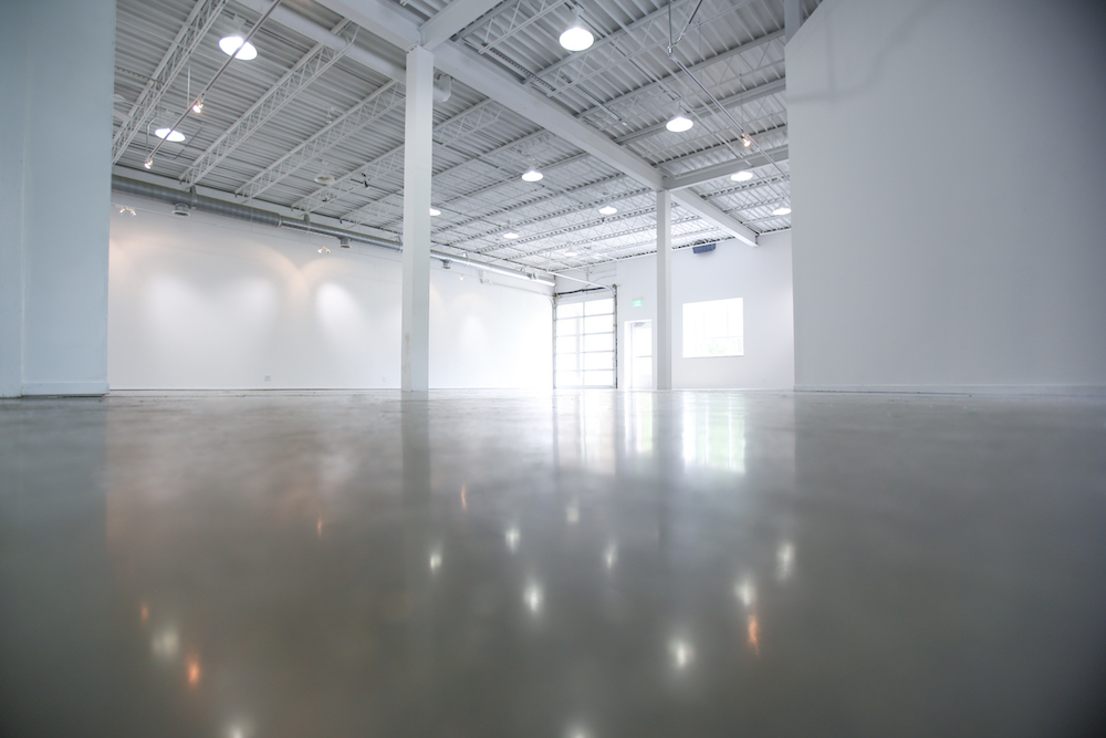 Public Functionary is one large room, approximately 2000 sq ft, ceiling height is 16 ft. The space is set-up to accommodate exhibitions, non-traditional performances and small events (250ppl max).