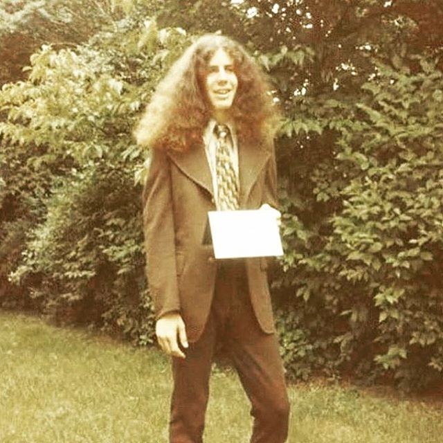 Anthony Bourdain in High School, 1973. RIP, you hard-livin, loveable a-hole.  #anthonybourdain #repost @historycoolkids @anthonybourdain