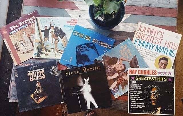 Thrift score! 50 cents each, great condition. 😎 #vinylrecords #vinylnerd #thriftstorefinds #thebyrds #thetroggs #beachboys #raycharles #mamasandthepapas #recordcollection