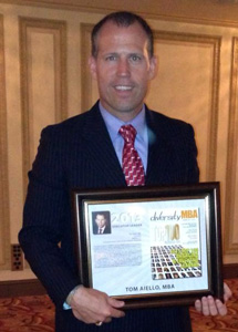 - MARCH's President, Tom Aiello, was honored last nightas one of the Diversity MBA Top 100 Under 50 forhis efforts around creating employment opportunitiesand inclusive workplaces for military veterans. Congratulations to all the award winners!