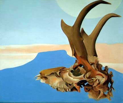 Georgia O'Keefe Antelope Head