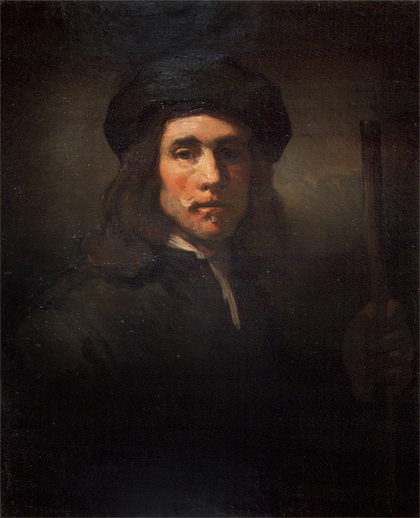 """Robert Henri """"Study After Rembrandt"""" Oil on Canvas: 32 x 25 1/2 Inches Signed Lower Left"""