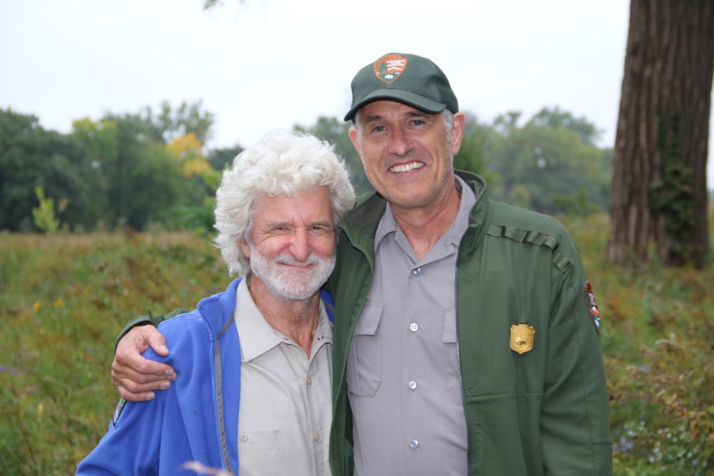 Volunteer Paul Eaves with Natural Resources Chief Alan Robbins-Fenger