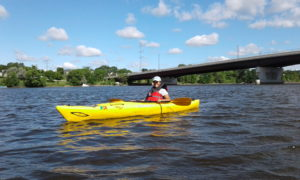 Mississippi River Fellow Mary enjoying Paddle Share