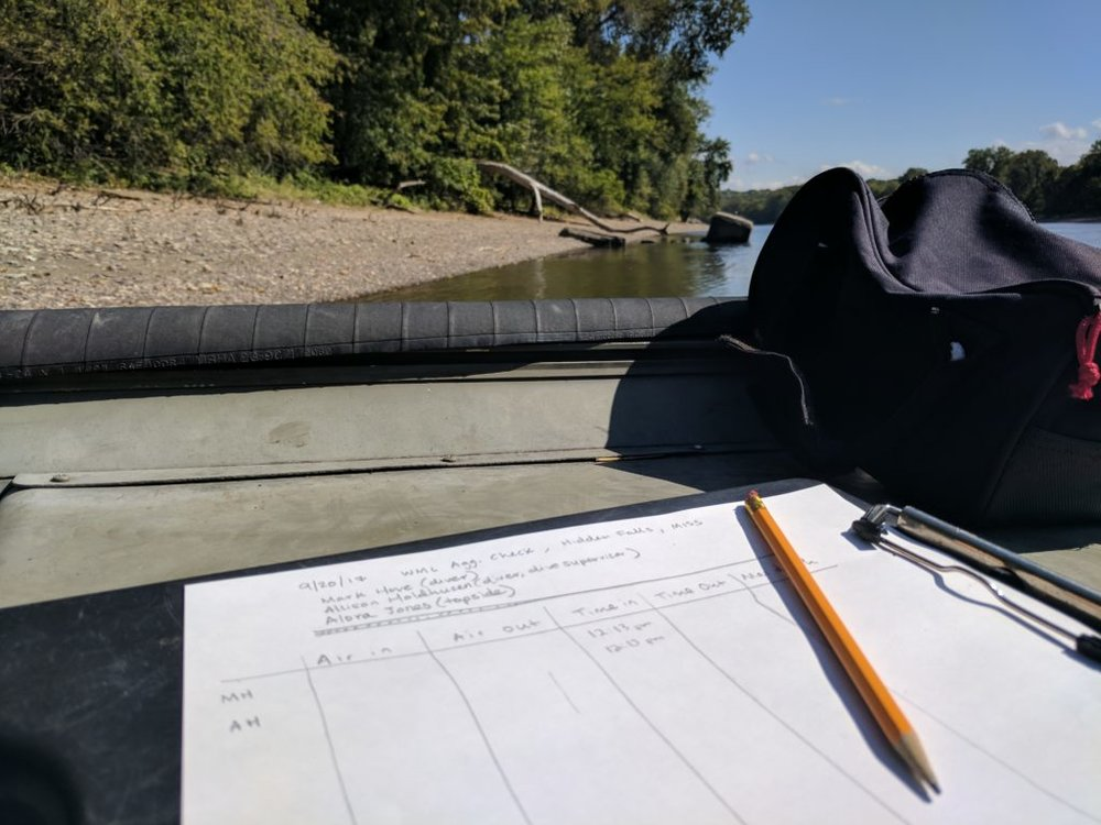 Mussel survey data collection
