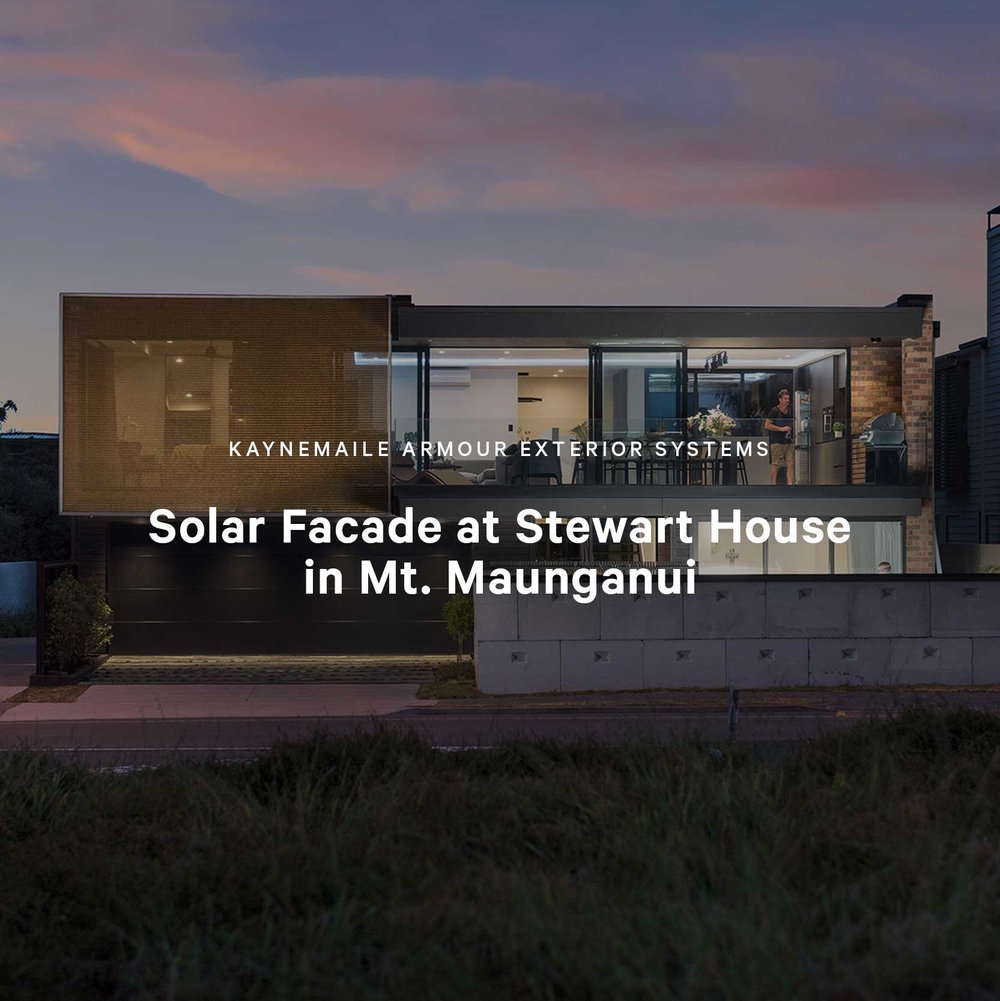 Solar Facade at Stewart House in Mt. Maunganui, New Zealand