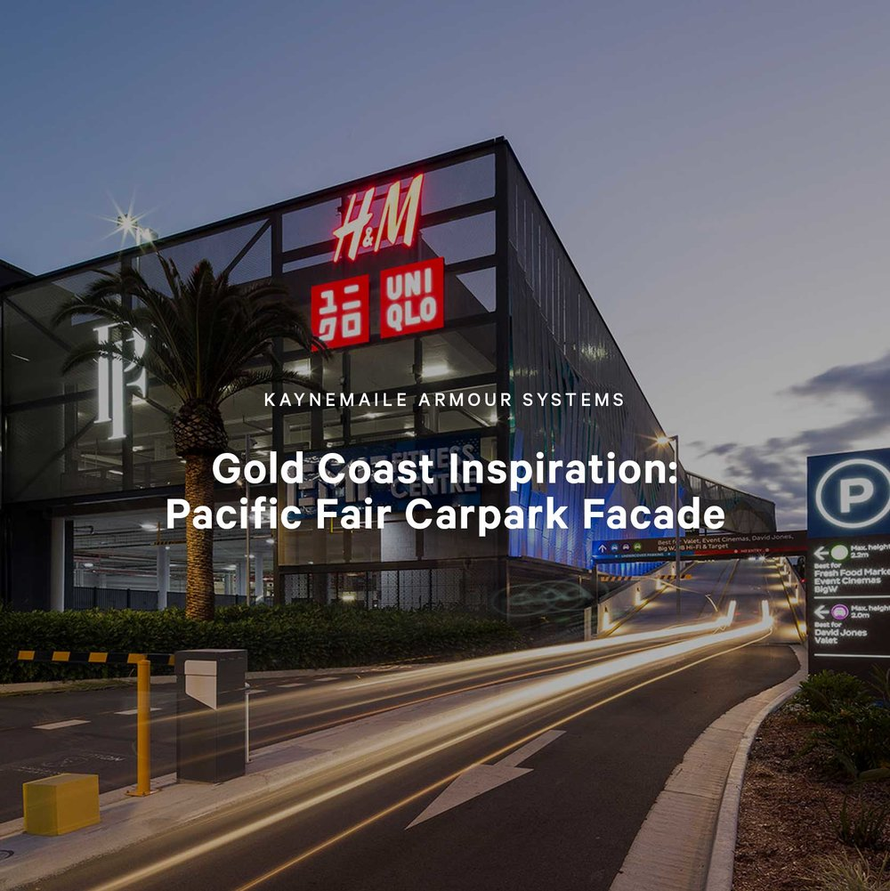 Gold Coast Inspiration: Pacific Fair Shopping Center Carpark Facade, Brisbane, Australia