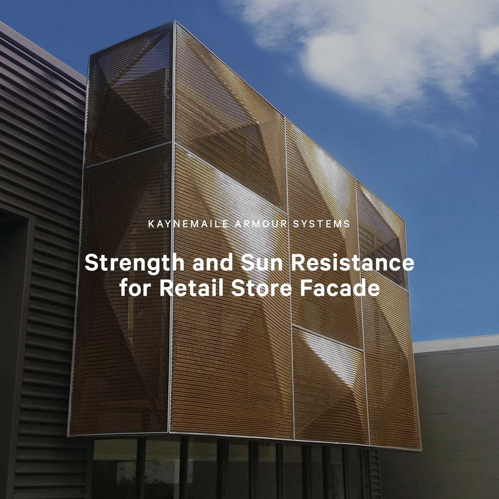 Strength and Sun Resistance for Retail Store Facade, Wellington, New Zealand