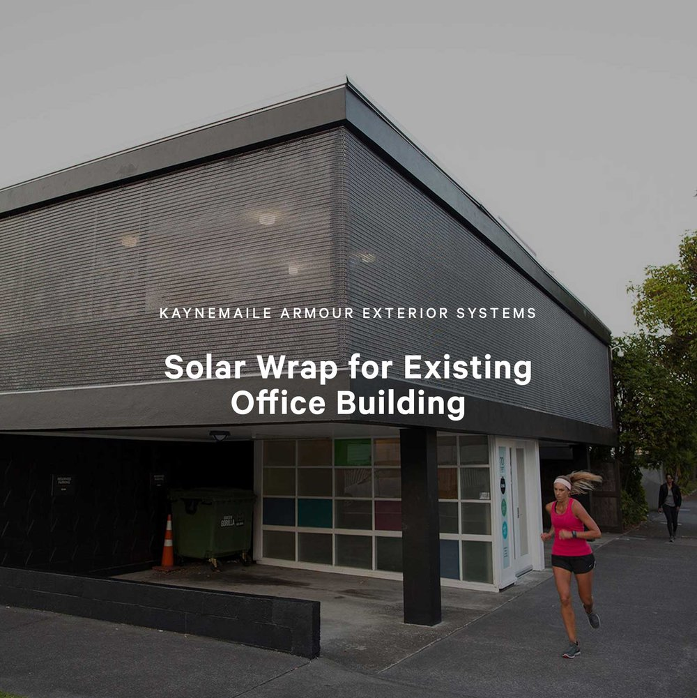 Solar Wrap for Existing Office Building, Auckland, New Zealand