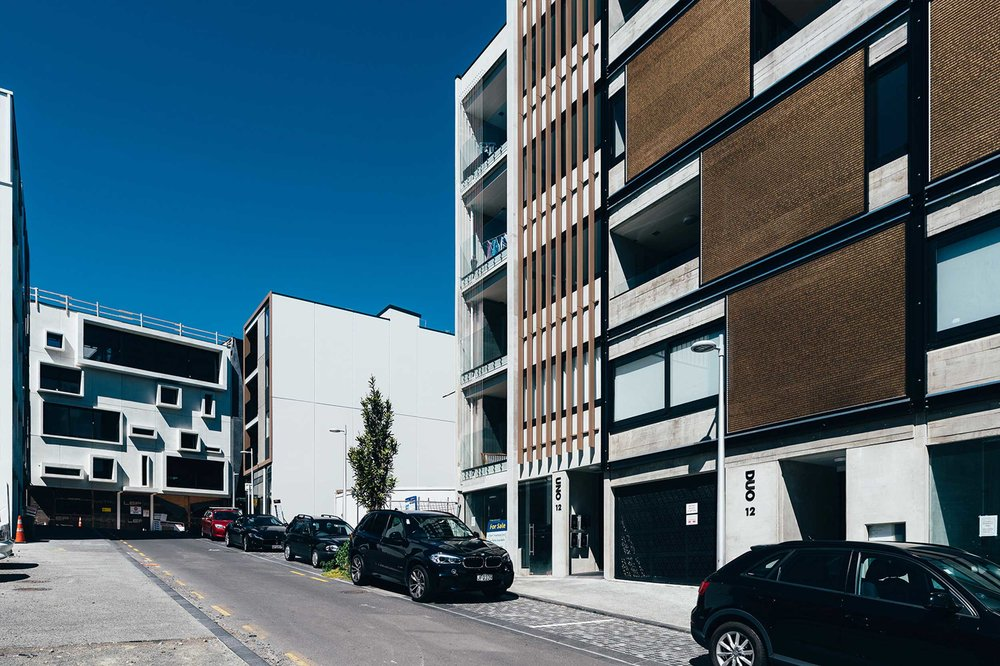 Movable Solar Screening for Uno Duo Apartments  Auckland, New Zealand