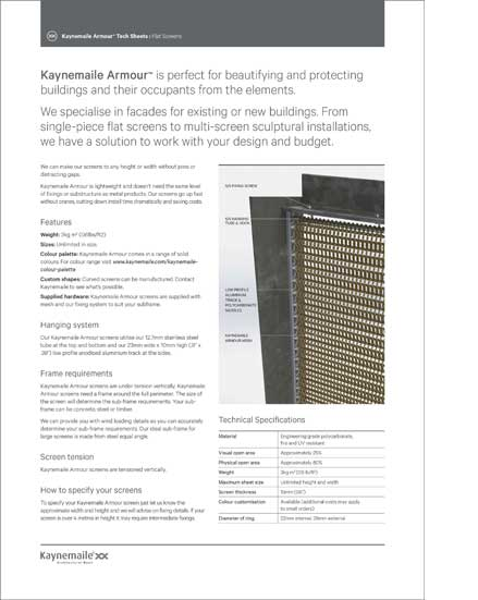 Kaynemaile-Armour Tech Sheet