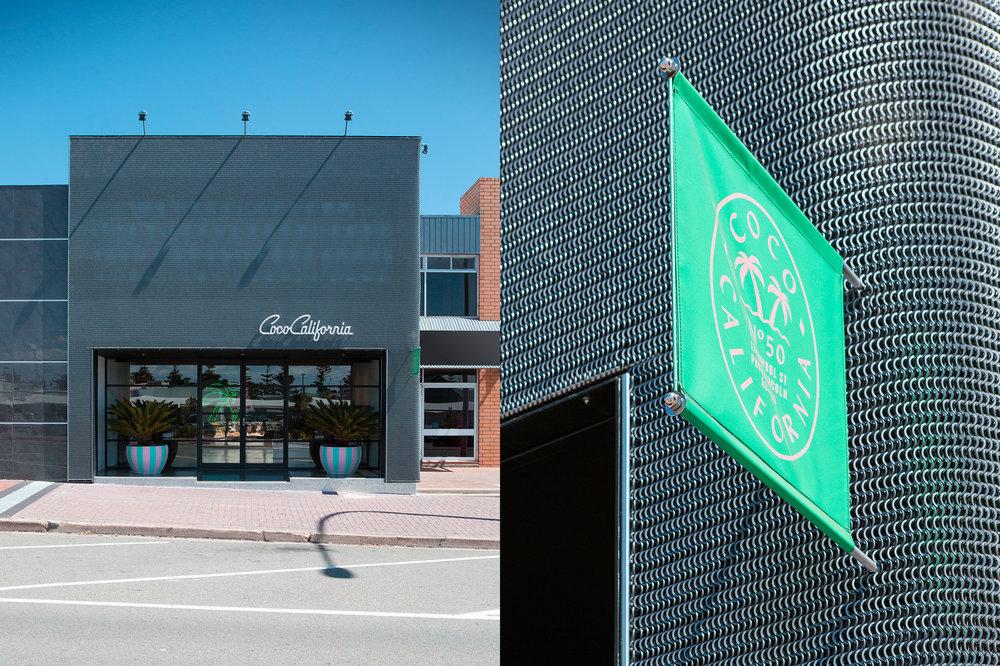 Modern facade facelift for Coco California retail store
