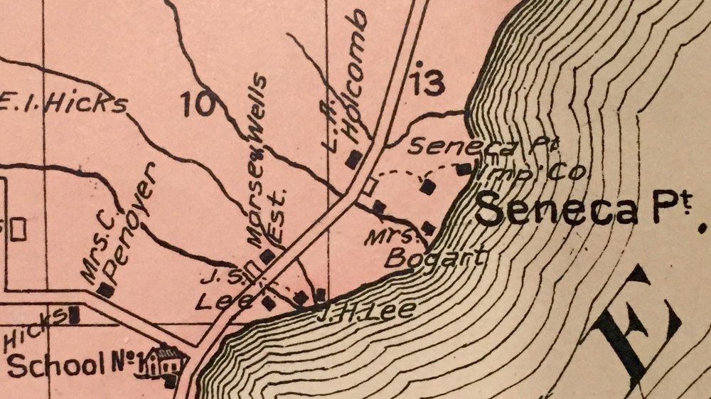 Map of Seneca Point, 1907 -