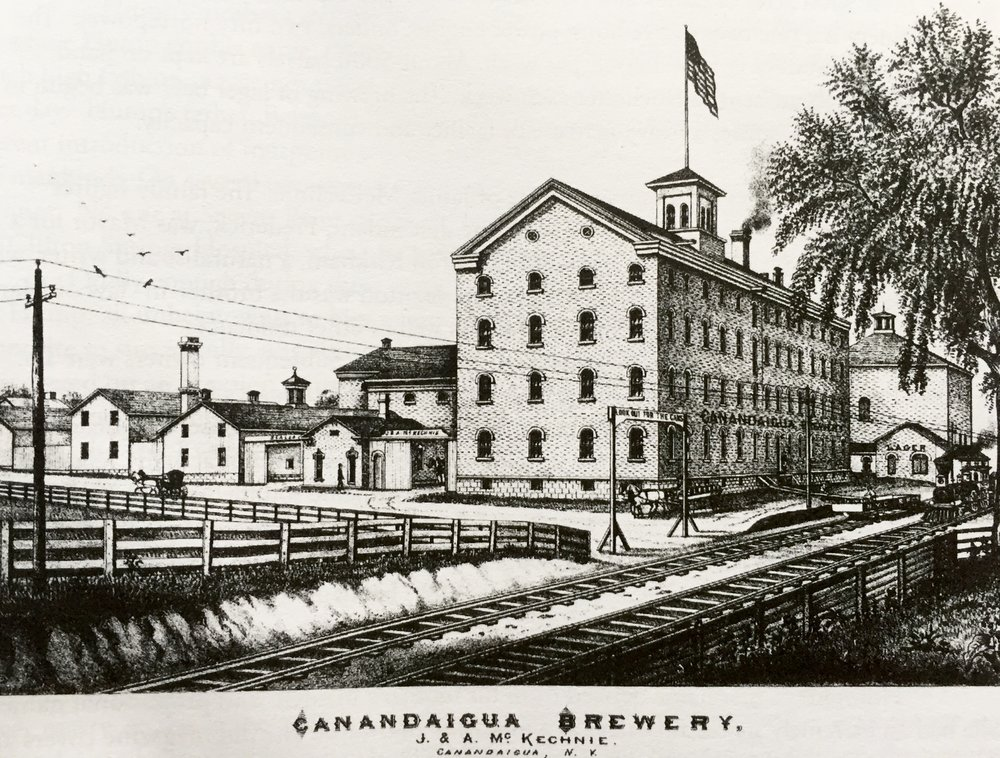 The Canandaigua Brewery made James McKechnie extremely prosperous.   -