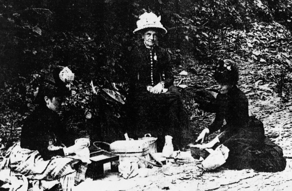 Picnickers in Seneca Point Glen ca. 1885 -