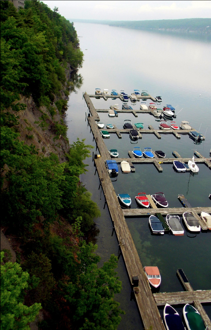 The view of the marina from the cliff