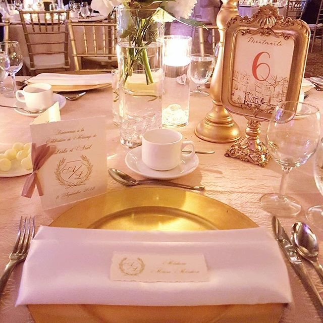 Gotta love you some deckle edge pieces for this gorgeous table setting. Few french words to tie in with their Paris themed wedding & touches of the bride & groom's custom monogram. 20+ table names after different places in Paris, such as Montmarte! 💕 . . . #justcreatebymj #custominvitations #invitations #weddinginvitations #receptionstationery #winnipegevents #winnipegstationery #winnipeginvitations #manitobainvitations #manitobaweddings #winnipegstationer  #winnipeginvitations  #creativebiz #creativelife #illustration #winnipegweddings #lasercutinvitation  #invitationdesigner #sandiegoweddings #southerncaliforniawedding #wedding2020 #wedding2019 #weddingseason #monogram #custommonogram #paris #pariswedding #parisweddings