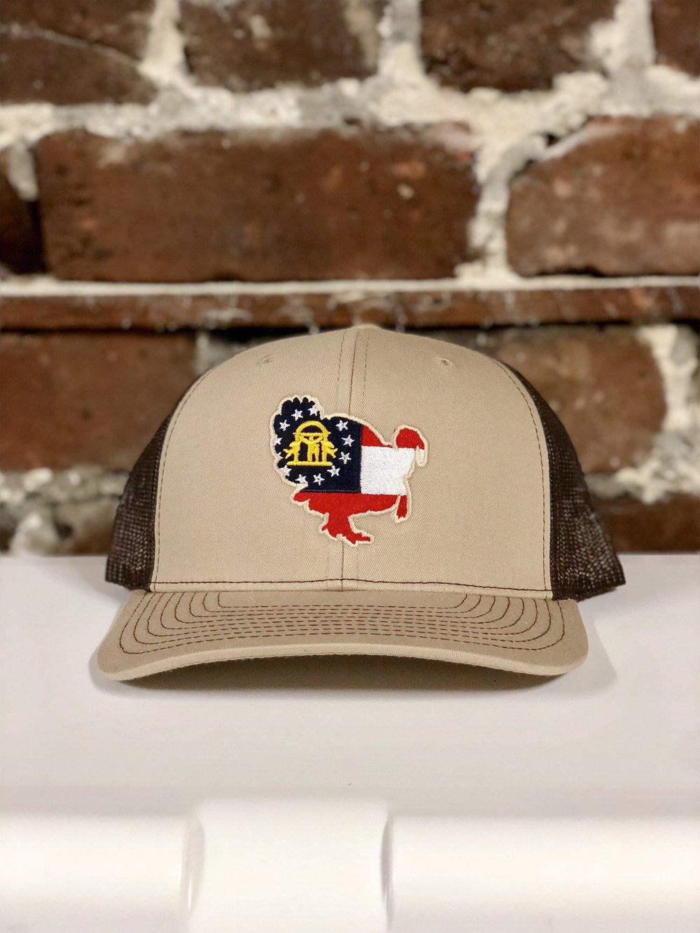 e22328afaf86a Georgia Turkey Trucker Hat Khaki Brown — Joseph s Clothier