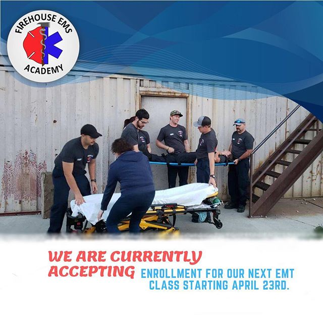EMT class starts April 23rd check us out at FirehouseEMSAcademy.com for more details