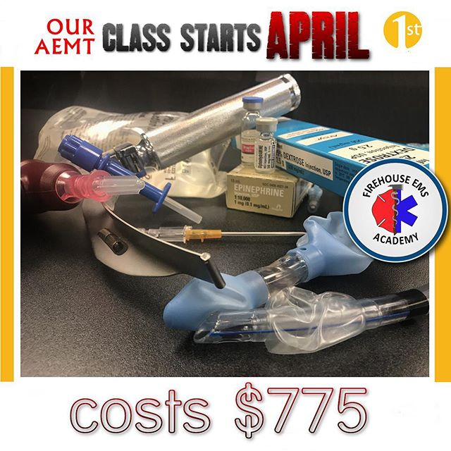 Our hybrid AEMT course starts April 1st, only one week left to register. For more info check us out at FirehouseEMSAcademy.com