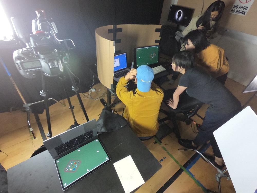 The DragonFrame setup…