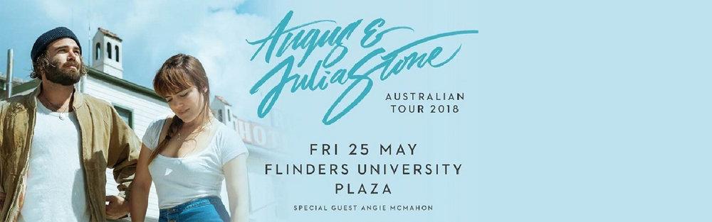 ANGUS & JULIA STONE @ FLINDERS PLAZA -