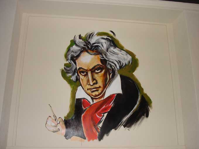 Commission for restaurant in Doesburg (NL).  Beethoven.