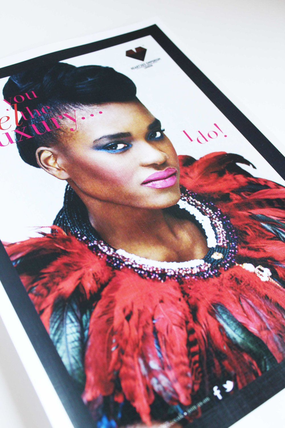 Flyer FRONT for Heart 365 London jewellery brand.