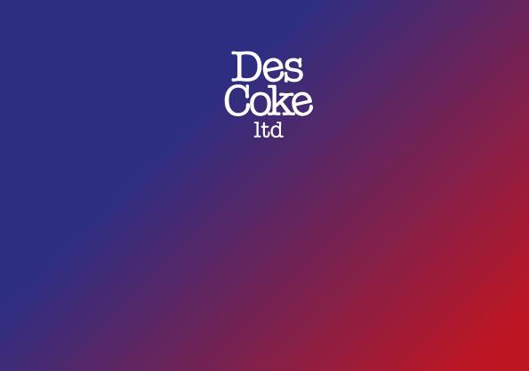 Business card FRONT for DesCoke LTD London, import export company.