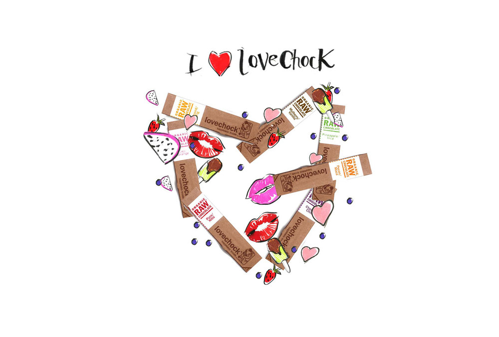 Illustration / design for LOVECHOCK used for INSTAGRAM