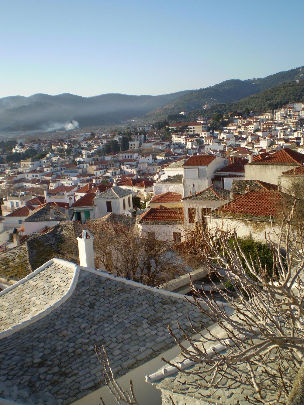 Skopelos town houses