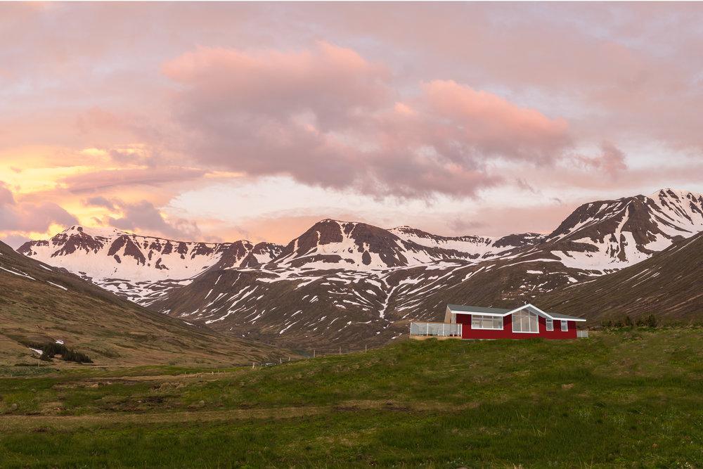 Uppkast af SiglóGolf skálanum í Hólsdal eins og hann kemur til með að líta út fullbúinn