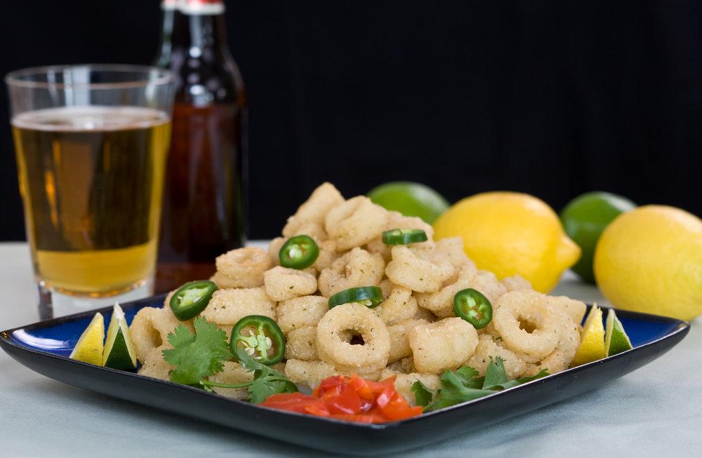 Classic fried calamari.
