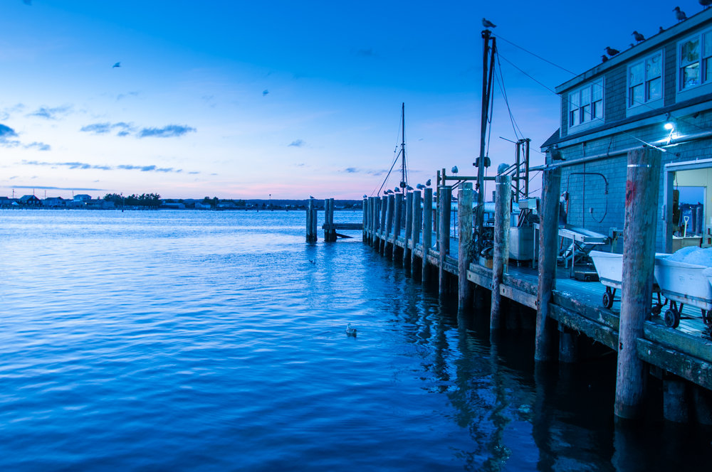 Our dock, Handrigan Seafood in Galilee, Rhode Island.