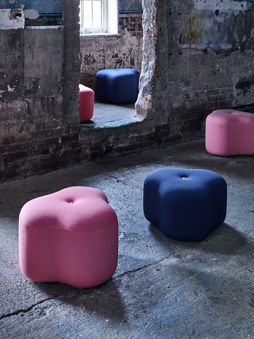 Poppy Bloom Stool