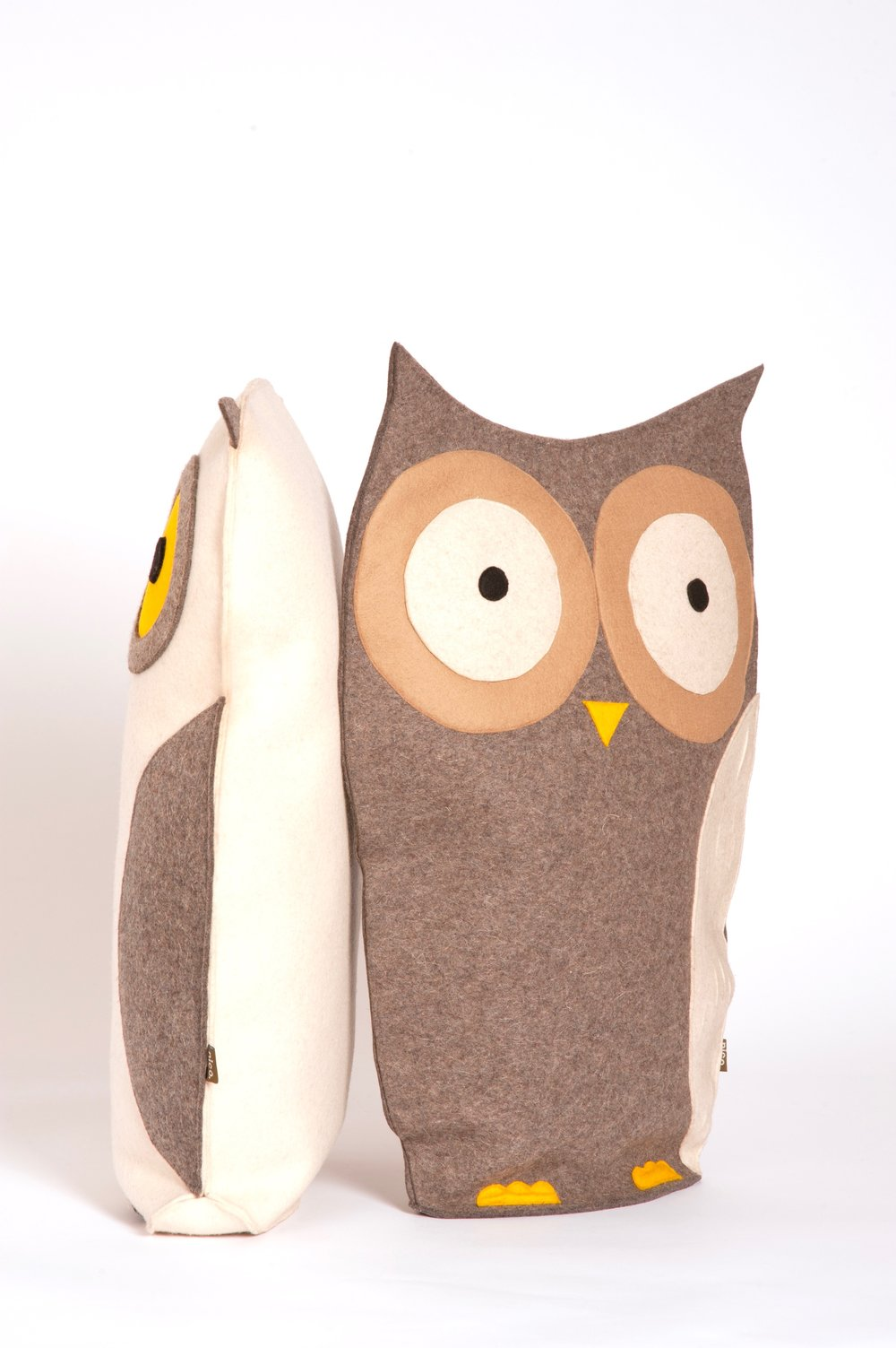 White and Grey owl cushion