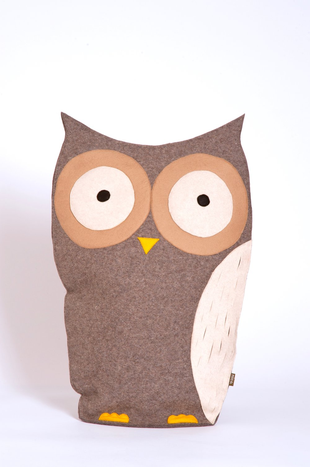 Grey owl cushion