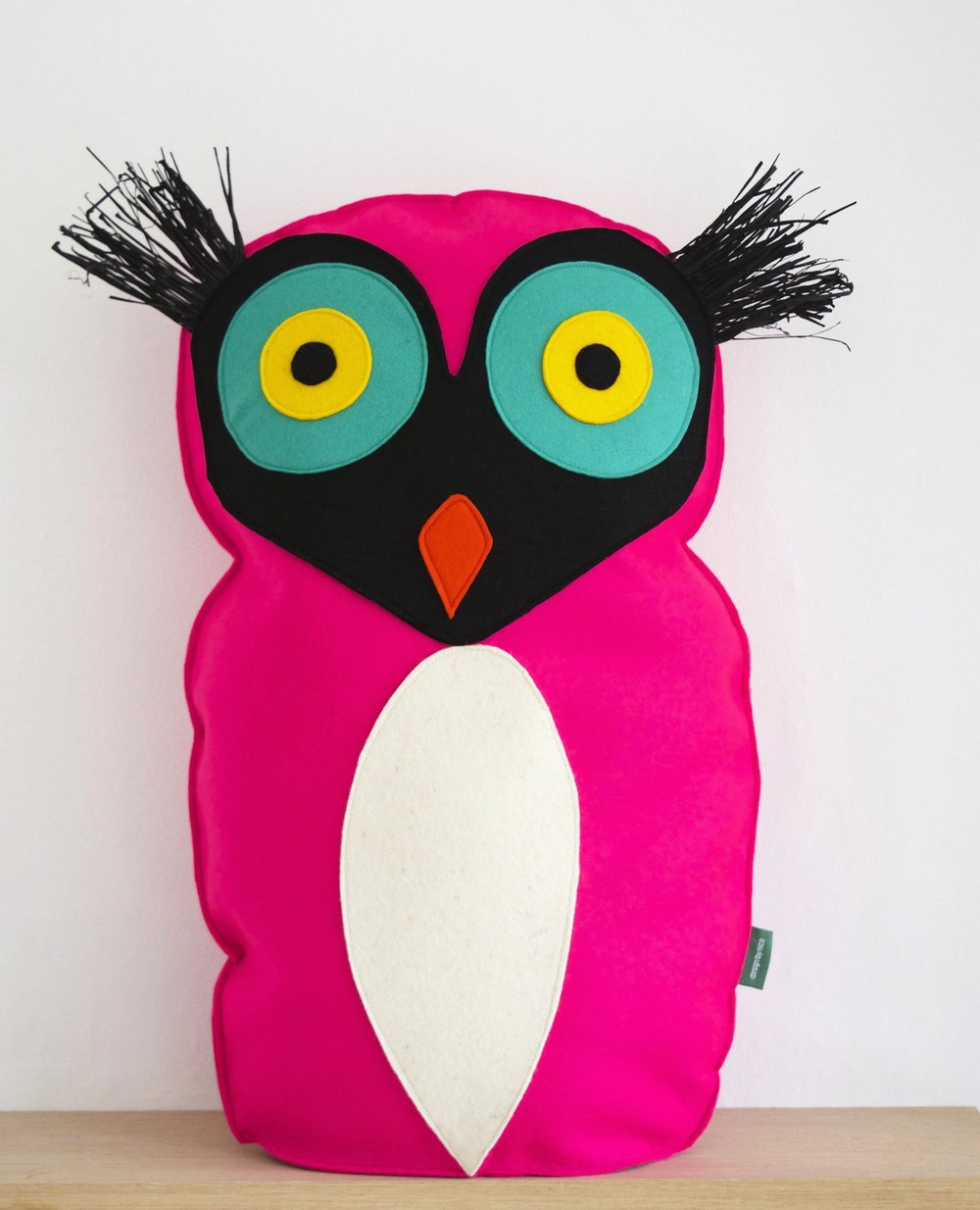 Pink bird cushion