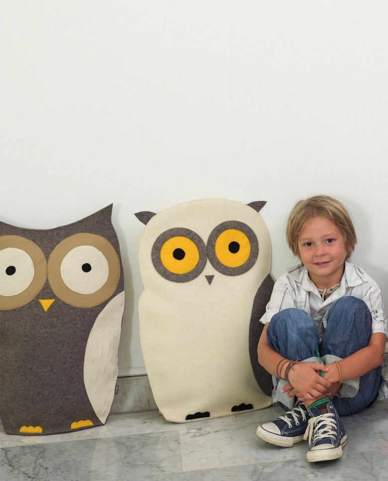 White and Grey owl cushions