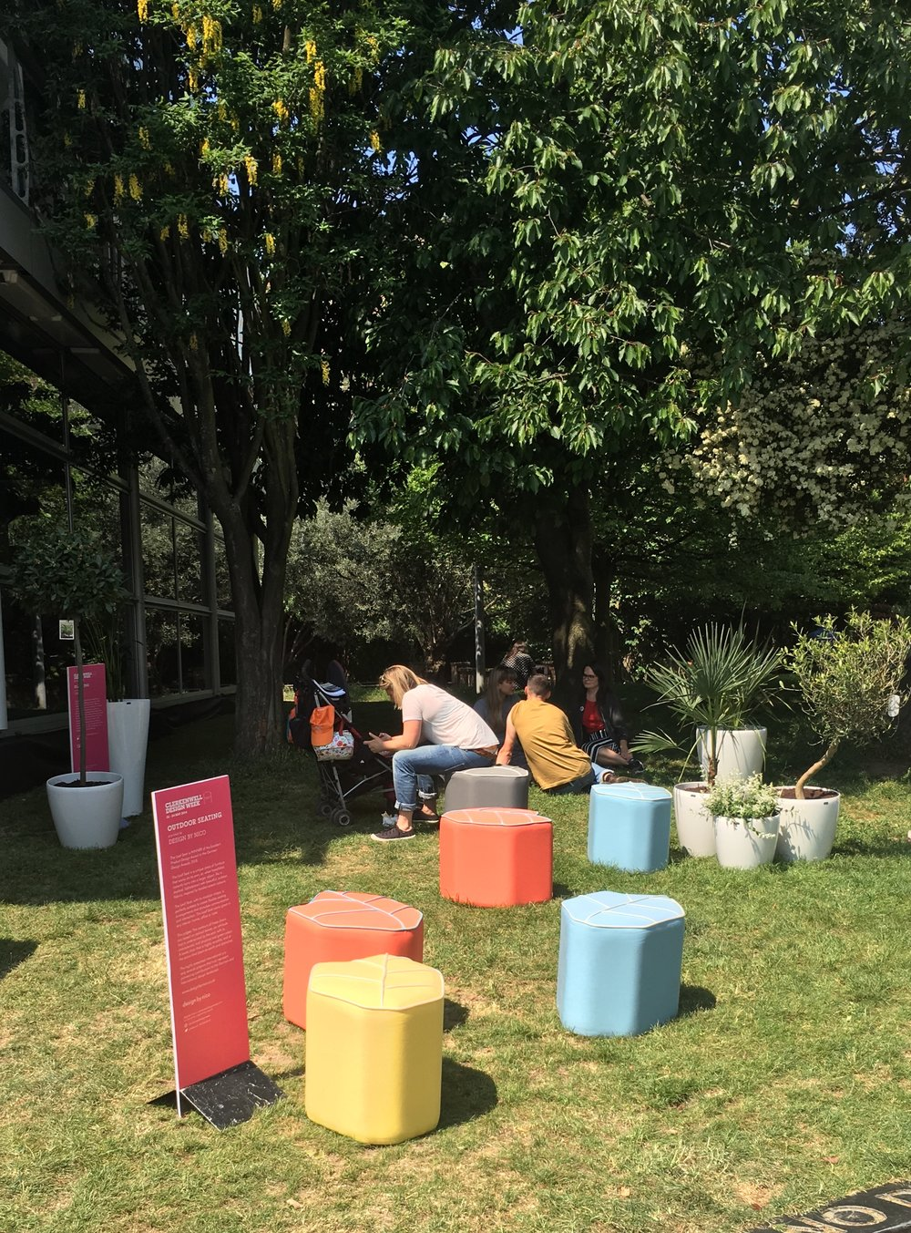 Outdoor Lea Seats at Clerkenwell Designweek London