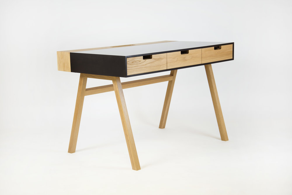 Corian Oak writing desk