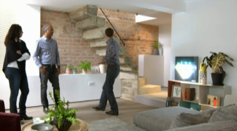 Totem bookcases Channel 4's Inside Out Homes