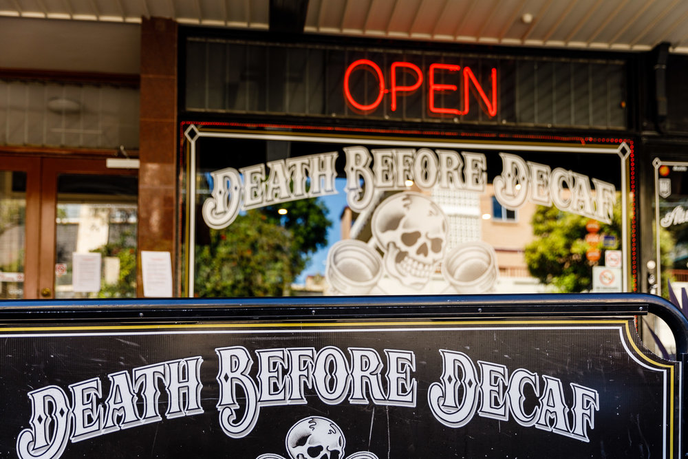 Death Before Decaf 24HR Cafe (250m)