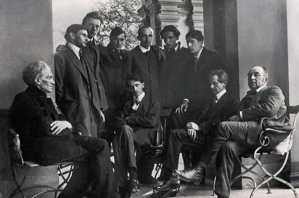 Pfingsttreffen des George-Kreises in Heidelberg 1918 © Ernst Morwitz  Stefan George Archiv, Württembergische Landesbibliothek Stuttgart