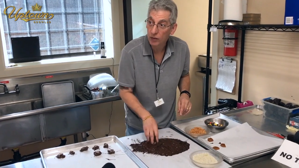Jay tries his hand at making gourmet chocolates at Wave Edibles Seattle.